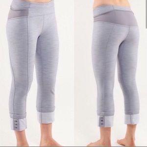 Lululemon Ride On Crop Button Cuff Pants SZ 6 Gray